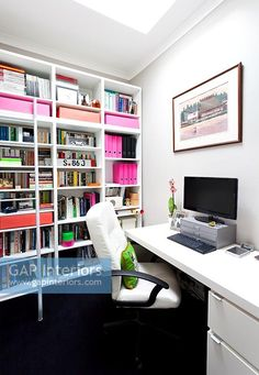Study Contemporary Home Offices, Contemporary Style, Study Space, Blog Deco, Interior Photography, Corner Desk, Furniture, Home Decor, Walls
