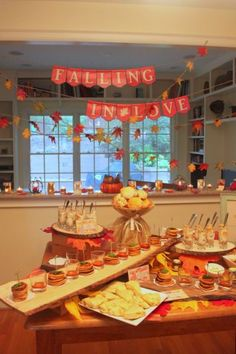 Seasonal Bridal Shower Decorations That Embrace Autumn And Falling In Love See More