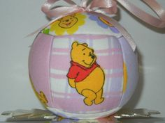 Winnie The Pooh Quilted Kimekomi Christmas Holiday Ornament Children and Kids on Wanelo