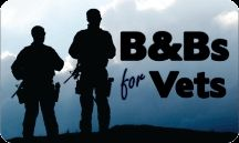 Free night stay at a Bed and Breakfast for Veterans, through B&Bs for Vets. Every year, hundreds of B&Bs participate....There are still a few vacancies for this year, but most are sold out for 2013.  Use the list on the B&Bs for Vets site to book your stay for next year!