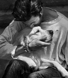 Man and dog Amazing Animals, Cute Animals, Dog Love, Puppy Love, Mans Best Friend, Best Friends, Man And Dog, Tier Fotos, Belle Photo