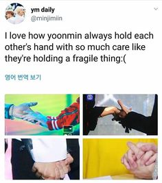 Yoonmin holding hands