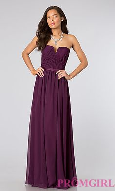 Long Purple Prom Gown by Mori Lee at PromGirl.com