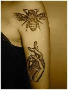 918ebad1 Artistic Bee Tattoo Picture Tattoos, Love Tattoos, Beautiful Tattoos, New  Tattoos, Hand