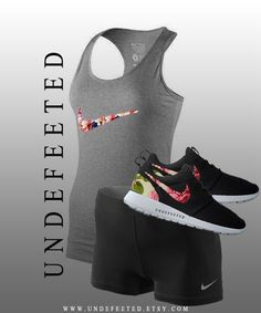 Nike Outfit with Floral Print #black,  workout