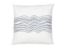 AQUA - Cotton accent cushion 18'' x 18'' - White