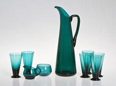 Nanny Still, 9 kpl Diy Bird Bath, Art Of Glass, Glass Ceramic, Modern Retro, Glass Design, Colored Glass, Scandinavian Design, Glass Bottles, Kitchenware
