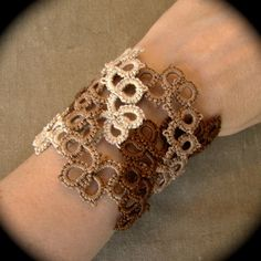 Tatted Lace Cuff Bracelet