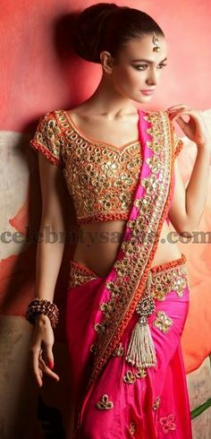 Many mirror work saree blouse designs Today sharing with you one of the latest trends in the ethnic fashion world which has made . Mirror Work Saree Blouse, Cut Work Blouse, Sari Blouse Designs, Saree Blouse Patterns, Indian Bridal Fashion, Indian Bridal Wear, Indian Dresses, Indian Outfits, India Fashion