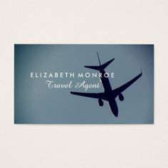 Travel agent business card pinterest business cards business airplane flight travel agent business card colourmoves
