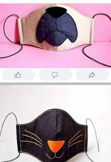 Todo para Crear ... : Cubreboca -barbijo Sewing Hacks, Sewing Crafts, Sewing Projects, Homemade Face Masks, Diy Face Mask, Love Sewing, Sewing For Kids, Book Folding Patterns, Sewing Patterns