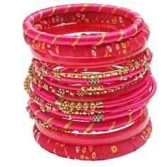 Madhuri Bangle Set. Love this vibrant set! #bracelet #bangle