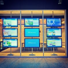 Digital window display