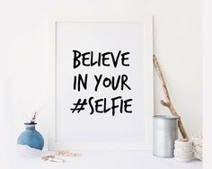 New to StyleScoutDesign on Etsy: Selfie queen Funny art print quotes poster Inspirational quote  Inspirational Poster Motivational Quote Motivational Gift (5.44 USD)