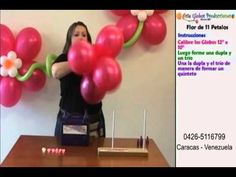 great video on how to make flower balloons