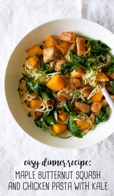 Caramelized butternut squash and succulent NatureRaised Farms® Chicken combined with baby kale and fresh, aromatic sage, atop perfectly al dente Barilla® angel hair pasta, make for a healthy and satisfying weeknight dinner. Cook up this Sweet Butternut Squash and Chicken Pasta with Kale in a quality Select by Calphalon™ pan—it's sure to become your family's new favorite fall dinner recipe.