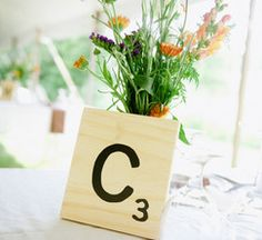 Oversized Scrabble Tiles Table Numbers
