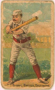 Oyster Burns, Baltimore Orioles, baseball card 1887.