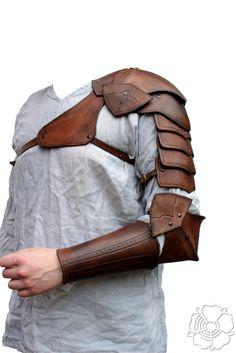 Shoulder armor + bracer (brown)3 by bellatoreslucis.deviantart.com on @DeviantArt