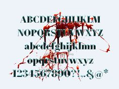 Roman Blood Alphabet designed by Vesna Barlas. Connect with them on Dribbble;