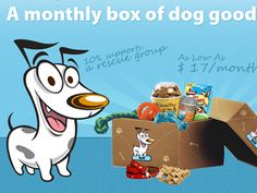 Dog Boxes - A Monthly Box of Dog Goodies by FATbit Technologies