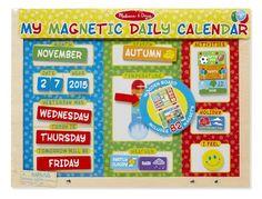 Melissa & Doug - Mi primer calendario magnético, en inglés (19253)…