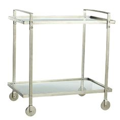 Ooh, barcarts! Wisteria - Furniture - Shop by Category - Accent Tables & Pedestals - Mixer's Bar Cart - $499.00