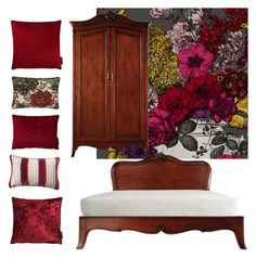 """""""Rich Reds"""" by serendipityhome on Polyvore featuring interior, interiors, interior design, home, home decor and interior decorating"""