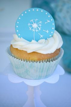 "Dandelion ""make a wish"" cupcake topper"
