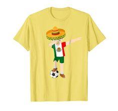 432d46830e6 National Team Flag Dab Dance Soccer Boys T-Shirts Dabbing Soccer Boy Mexico  Jersey Shirt