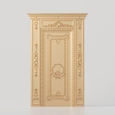 3D model of a carved door for production on CNC machines 3d Design, Design Model, 3d Model Architecture, Geometry, Carved Door, Carving, 3d Modeling, Interior Design, Columns