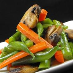 Green Bean and Mushroom Medley - spray pan with non-stick cooking spray and reduce butter to 2 T when sauteing the mushrooms & onions.