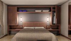 Letto con armadio a ponte - PaolaElisa Mobili | bedroom wall ...