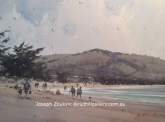 Joseph Zbukvic - 'Back From Fishing', watercolour, Red Hill Gallery Brisbane. Art Gallery, Artist Painting, Joseph Zbukvic, Joseph, Watercolor Rose, Beach Scenes, Art, Watercolor Landscape, Water Painting