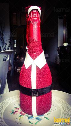 Decoração de garrafas para Natal  www.facebook.com/kemeleventos