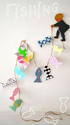 Paper fish craft and many other craft activities