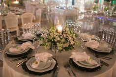 Decoração de mesa para casamento clássico