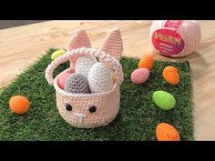 Cesto Pascoa em amigurumi com Simoni Figueiredo - YouTube Easter Crochet, Basket, Make It Yourself, Creative, Instagram, Youtube, Amigurumi Patterns, Basket Weave Crochet, Easter Eggs