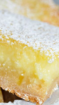 Easy Cake Mix Lemon Bars Recipe ~ These are the best lemon bars... Simple and delicious. Made with cake mix and a gooey cream cheese top.