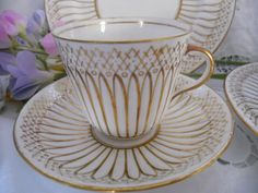 Beautifully decorated vintage gold and white bone by ChezElla, $26.00