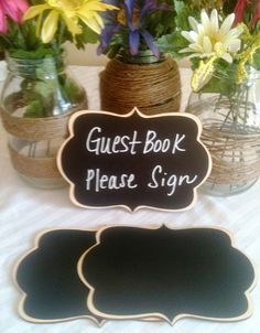 NEW CAMDEN STYLE Chalkboard Signs I have a love for chalkboard surfaces.  What a fun way to add to weddings and other events! Photo Props by BradensGrace, $32.00 http://www.etsy.com/listing/96008661/new-camden-style-chalkboard-signs-photo