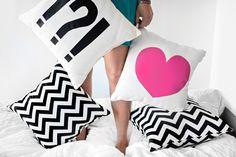 MY DIY   Heart & Punctuation Pillow   I SPY DIY