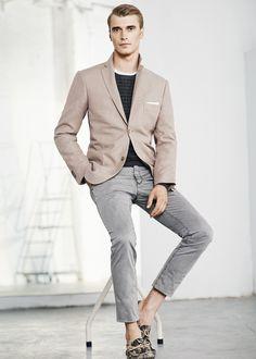 Premium brushed cotton blazer