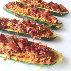 """BBQ Chicken Zucchini Boats are up on the blog today! These are a #WholeFamily favorite! I swear you call a vegetable a boat and it magically becomes less gagable and more edible! One of my littles favorites! Link in profile #CleanEats #KidsEatingWhole #CleanLittleEats"" Photo taken by @cleaneats_cleantreats on Instagram, pinned via the InstaPin iOS App! http://www.instapinapp.com (05/08/2015)"