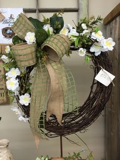 Grapevine Wreath with Silk Additions