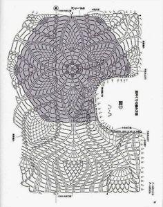 Crochet: TOP - Gillette - Medusa OT PLECHA