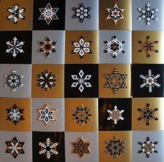 I like these Perler bead snowflake designs. Diy Christmas Presents, Christmas Card Crafts, Christmas Decorations, Pearler Bead Patterns, Perler Patterns, Pixel Art Noel, Bead Crafts, Diy Crafts, Christmas Perler Beads