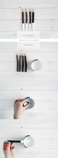 Rustic meets modern when old-school pencils take a little dip! Pinup, Crate Table, Diy Inspiration, Diy Projects To Try, Diy Gifts, Free Gifts, Selling On Ebay, Diy Tutorial, Modern Design