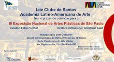 21/11 ♥ Inauguração da III Exposição Nacional de Artes Plásticas de São Paulo ♥  http://paulabarrozo.blogspot.com.br/2016/11/2111-inauguracao-da-iii-exposicao.html