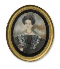 Abraham Parsell (1791-1856), attributed, Miniature Portrait of Mary Jones Bruen, ca. 1835. Watercolor on ivory. Courtesy of the New Jersey Historical Society. 1936.10